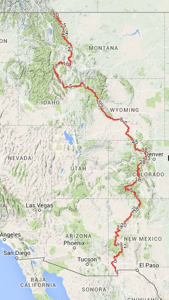 Cdt Colorado Map.My Dream Hiking Bucket List The Caffeinated Hiker