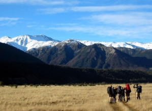 Hikers in Arthur's Pass Pational Park