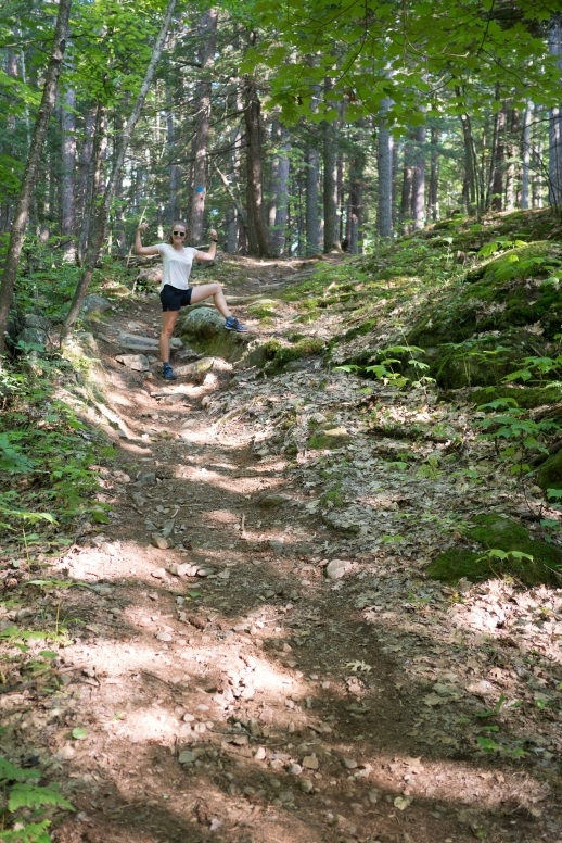 Kristin on the High Pines trail, Bon Echo