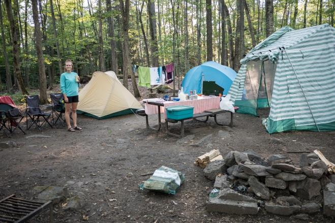 Campsite at Bon Echo