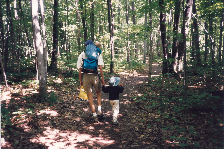 Hiking in Awenda - Kristin's 5 km trek (first hike)
